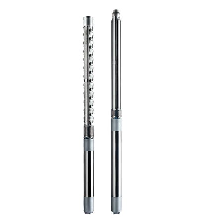 Stainless steel electric mixed flow and radial submersible pumps
